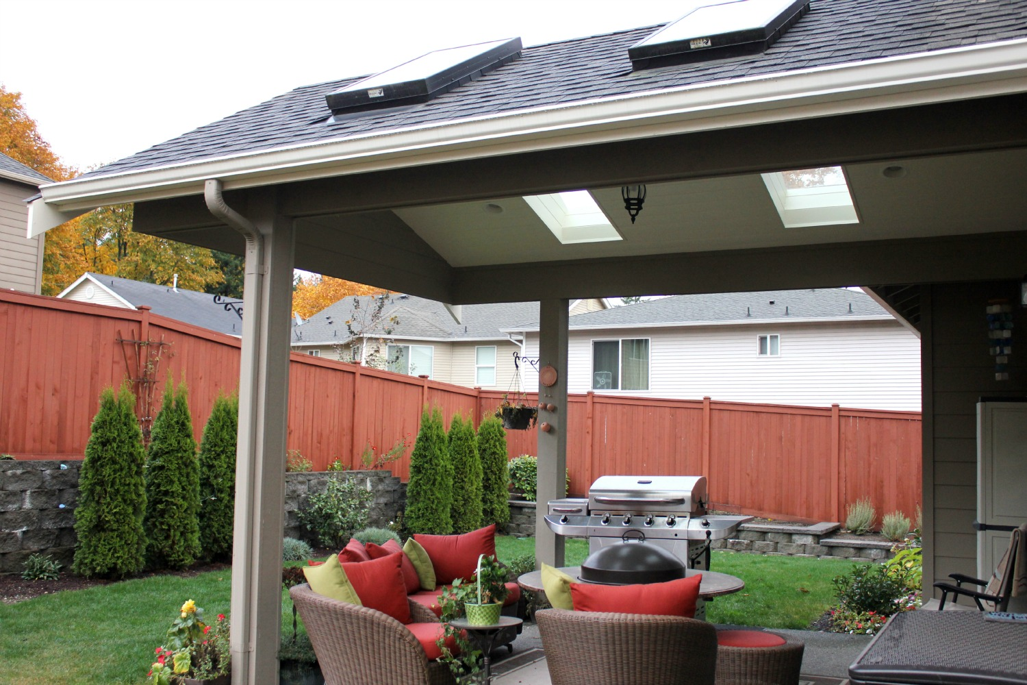 Backyard covered patios - Sammamish Outdoor Covered Patio